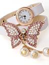 alliage oser u mode diamantée cuir PU montre réglable