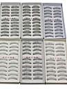 60pcs 6 modèles mixtes fibre allongement noir faux cils naturels faits à la main