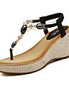 damskor pärlstav ankelband kil klack sandaler (fler färger)