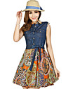 CoCo Zhang femei Vintage Maieuri șifon Dress