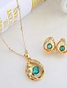 westernrain kvinnors guldpläterade rhinestone smycken set