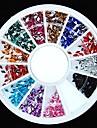 600st 12colours diamantform akryl strass hjul nagel konst dekoration