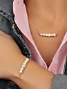 Set bijuterii Perle Imitație de Perle Aliaj La modă Auriu Seturi de bijuterii Petrecere Ocazie specială Zi de Naștere Zilnic Casual