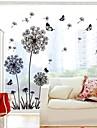 Doudouwo ® Botanical Solid Style Dandelion och fjäril Wall Stickers