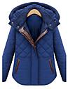 albastru moda capișon montate haină groasă