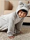 Kigurumi Pyjamas Katt / Totoro Leotard/Onesie Festival/Högtid Animal Sovplagg Halloween Grå Enfärgat Flanell Kigurumi För BarnHalloween /