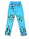 Inspiré par One Piece Trafalgar Law Anime Costumes de cosplay Costumes Cosplay Motif Animal Bleu Pantalons