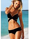 Kuqi kvinna svart Push-Up Bandage Bikini
