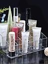 Acrylique transparent avec des cercles 4x6 Cosmétiques stockage stand brosse de maquillage portable organisateur cosmétique