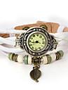 vågar u äkta läder blad hängande armband armbandsur