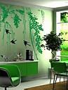 landskap grön pil och svälja väggdekorationer