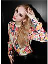 noua femei sifon imprimeu floral bluza cu maneca lunga
