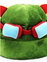 Chapeau/Casquette Inspiré par LOL Cosplay Anime/Jeux Vidéo Accessoires de Cosplay Chapeau Vert Polaire Masculin / Féminin
