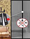 porte de moustiques magie filet à mailles aimant d'écran anti mouche insecte bogue rideau drapé