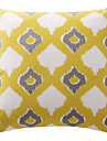 konstnärliga gula lappande romb lattice bomullscanvas dekorativa kudde