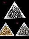 100st 4 * 6mm mini nit nail art dekorationer (blandade färger)
