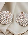 miki elegant pärla diamante romb örat stud