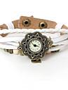 vågar u kvinnor vintage hjärta mönster läder armband klocka