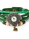oser femmes u cru montre bracelet en cuir de modèle de coeur