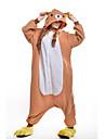 kigurumi Pyjamas New Cosplay® / Ours Collant/Combinaison Fête / Célébration Pyjamas Animale Halloween Jaune Mosaïque Polaire Kigurumi Pour