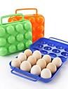 12 ceint les boîtes de plastique (œufs de couleur aléatoire)