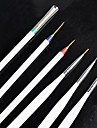 Tiny Akryl Nail Art Drawing Pen Brush Painting Tools 3 + 3 Per Set