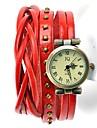 Timi Kvinnors Vintage Leather Analog Bracelet Watch-W1285