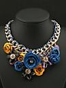 élégant collier court impression d'or de fleur de la chaîne des femmes Senlan