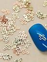 200pcs forme de croix tranche de métal clou d'or de décoration d'art