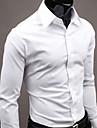 QCH bărbați mânecă lungă Tricouri Gentleman (alb)
