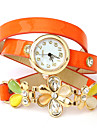 montres bracelet oser u imprimé de fleurs en cuir PU enveloppé