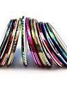 10st mixs färg folie stripp tejp linje spik rand band nail art dekoration klistermärke (slumpvis färg)