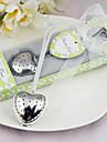 """Tea Time"" Stainless Steel Heart Tea Infuser Wedding Favor"