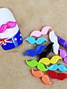 10st 12 * 4mm godis färg harts skägg formade nail art dekorationer (blandade färger)