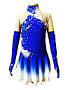 Konståkningsdräkter Dam / Flickor Lång ärm Skridskoåkning Kjolar & Klänningar Konståkning klänning Andningsfunktion / Stretch Spandex Blå