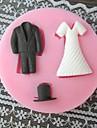 Vêtements Cuire moule à cake de fondant, L7cm * W7cm * H1cm