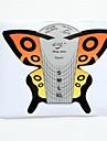 100 Pcs papillon Nail Art Forms Outils gel UV acrylique Conseils Guide extension