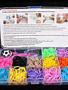 baoguang®fashion métier à tisser mis 12 (bandes de couleur en caoutchouc, 1 paquet de clips, 2hook, une métiers à tisser, 3pcs pendentif)