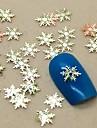 200pcs forme de flocon de neige tranche métal nail art décoration