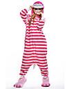 Kigurumi Pyjamas nya Cosplay® / Katt Leotard/Onesie Festival/Högtid Animal Sovplagg Halloween Rosa Lappverk Polar Fleece Kigurumi För