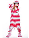kigurumi Pyjamas New Cosplay® Chat Collant/Combinaison Fête / Célébration Pyjamas Animale Halloween Rose Mosaïque Polaire Kigurumi Pour