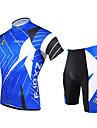 FJQXZ® Maillot et Cuissard de Cyclisme Homme Manches courtes Vélo Respirable Séchage rapide Résistant aux ultraviolets Zip frontalMaillot