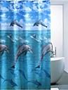 eau de dauphin imprimé polyester imperméable rideau de douche