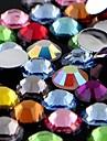nouvelles 3000pcs mélange 12 couleur de 1.5mm larme ongles strass art déco brille gemmes