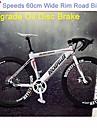 27 hastigheter rockefeller ™ cykling 700c dubbelskivbroms red cykel 70 ekrar punktering