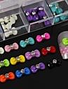 100st mix färg harts bowtie med strass tillbehör som inte ingår box 3d nagel konst dekoration