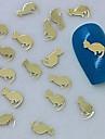 200st gyllene kattdesign metallskiva nagel konst dekoration
