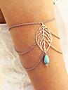 Dame Bijuterii de corp Corp lanț / burtă lanț Arm lanț Sculptat Turcoaz Leaf Shape Auriu Argintiu Bronz Bijuterii Pentru Zilnic Casual