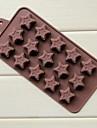 15 håls munkar pentagram form cake is jelly choklad formar