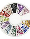 550 pcs multi-couleur des paillettes strass pour pointe nail art décoration